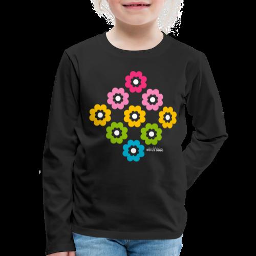 RAINBOW BLOOM - Lasten premium pitkähihainen t-paita