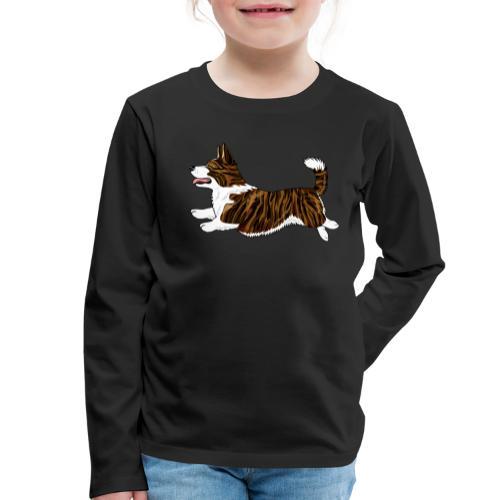 Welshcorgi7 - Lasten premium pitkähihainen t-paita