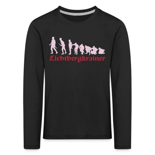 Krainolution-Schwarz - Kinder Premium Langarmshirt