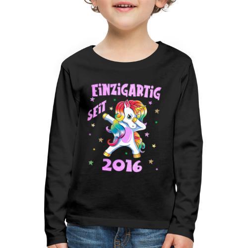 Geburtstag Einhorn - Einzigartig 4 Jahre Mädchen - Kinder Premium Langarmshirt