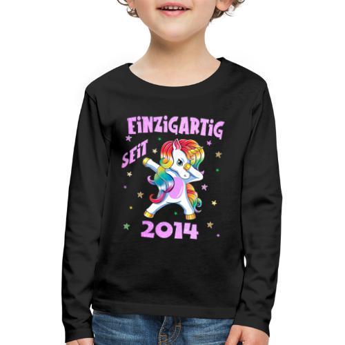 Geburtstag Einhorn 2014 Geschenk 6 Jahre Mädchen - Kinder Premium Langarmshirt