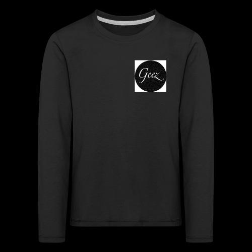 black/white texture - Kids' Premium Longsleeve Shirt