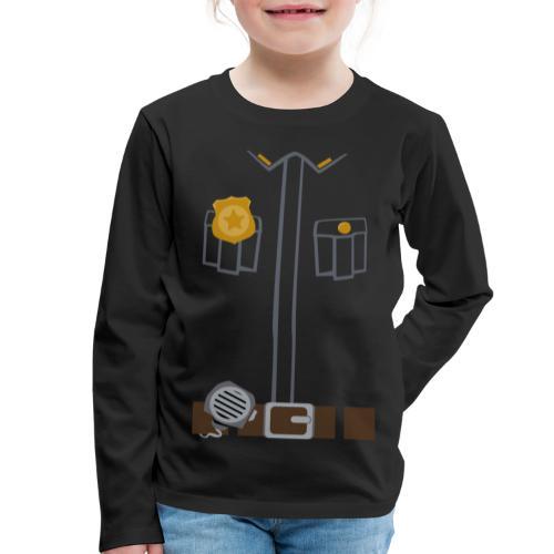 Police Costume Black - Kids' Premium Longsleeve Shirt