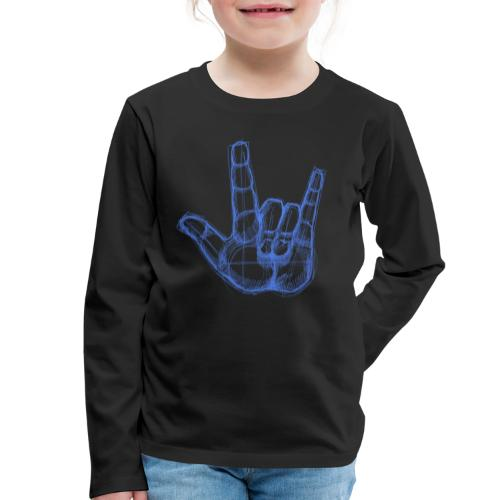 Sketchhand ILY - Kinder Premium Langarmshirt