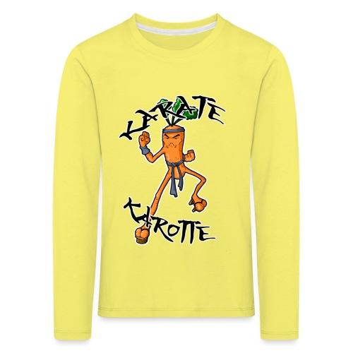KarateKarotteTexte - T-shirt manches longues Premium Enfant