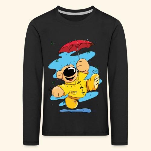 Der Bär tanzt im Regen - Kinder Premium Langarmshirt