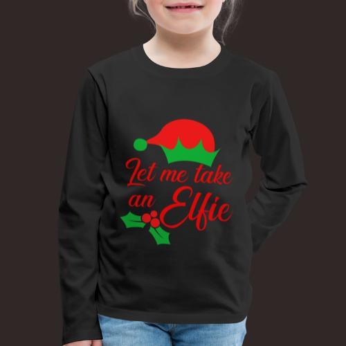 Weihnachten | Elf Mütze Weihnachtself Wortspiel - Kinder Premium Langarmshirt