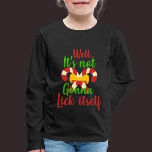 Weihnachten | lecken Zuckerstange Masche xmas - Kinder Premium Langarmshirt