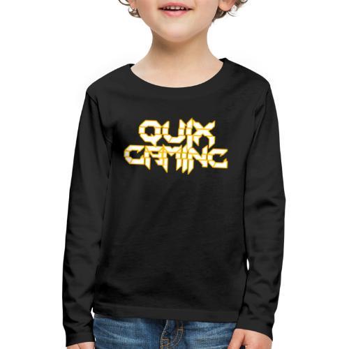 QuixGaming Simple Design - Børne premium T-shirt med lange ærmer