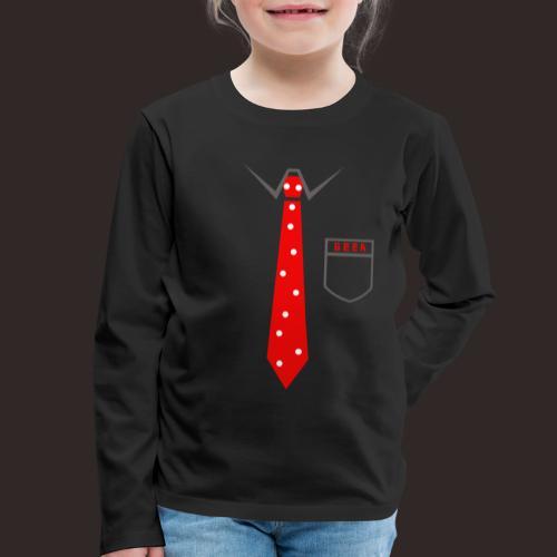 Geek | Schlips Krawatte Wissenschaft Streber - Kinder Premium Langarmshirt
