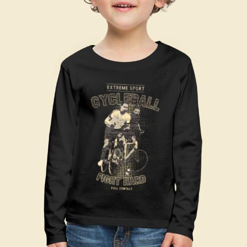 Radball   Fight Hard - Kinder Premium Langarmshirt
