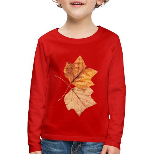 Blätter - Kinder Premium Langarmshirt