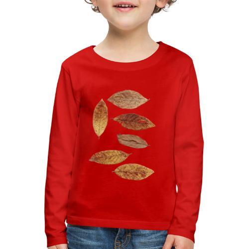 Bunte Blätter - Kinder Premium Langarmshirt