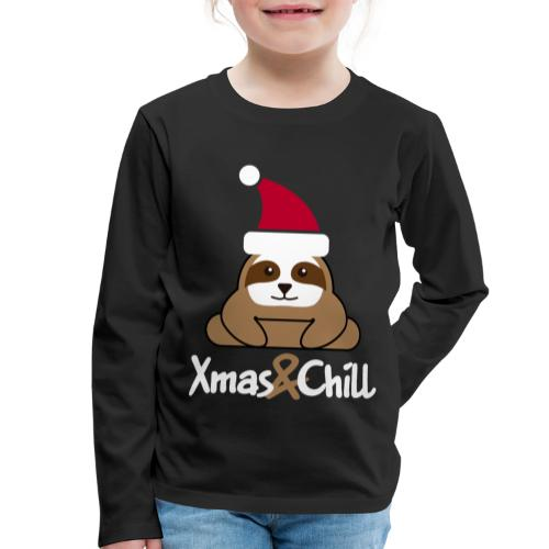 Faultier Weihnachten süß lustig Geschenk - Kinder Premium Langarmshirt