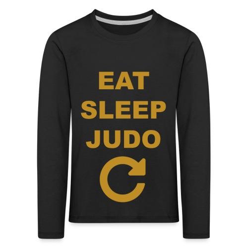 Eat sleep Judo repeat - Koszulka dziecięca Premium z długim rękawem