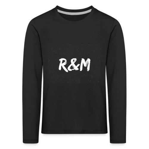 R&M Large Logo tshirt black - Kids' Premium Longsleeve Shirt