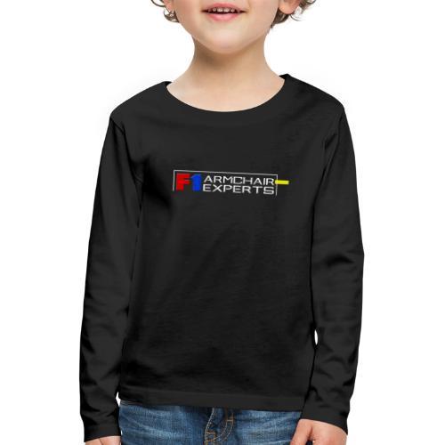 F1 Armchair Expert Official Logo WHT - Kids' Premium Longsleeve Shirt