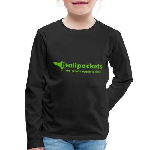 Balipockets Logo - Kinder Premium Langarmshirt