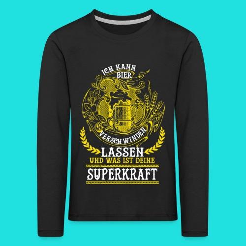 Bier Superkraft - Kinder Premium Langarmshirt