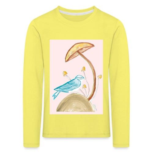 fungo con uccello - Maglietta Premium a manica lunga per bambini