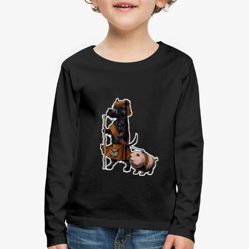 Scottie and Haggis dark t - Kids' Premium Longsleeve Shirt