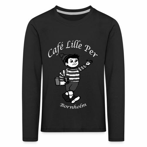 Cafe LillePer Logo BW - Børne premium T-shirt med lange ærmer