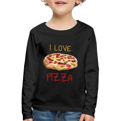 I love Pizza - Kinder Premium Langarmshirt
