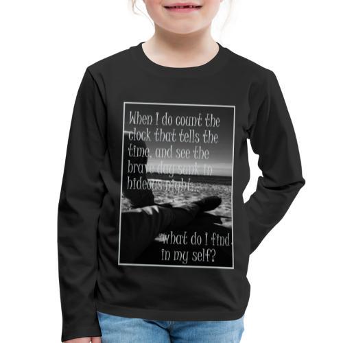 When I do count the clock - Kinder Premium Langarmshirt