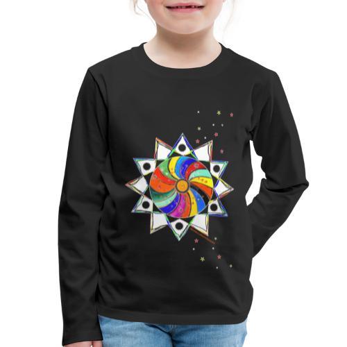 Bunter Stern - Kinder Premium Langarmshirt