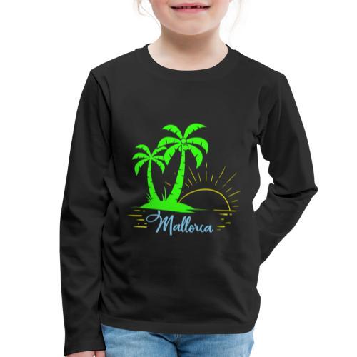 Die goldenen Sonnenuntergänge von Mallorca - Kinder Premium Langarmshirt