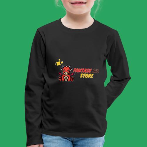 Fantasy big store - Maglietta Premium a manica lunga per bambini