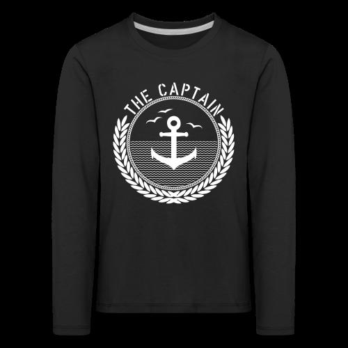 The Captain - Anchor - Kinder Premium Langarmshirt