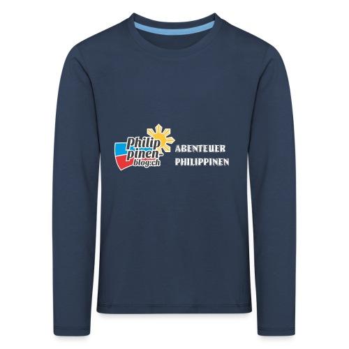 Philippinen-Blog Logo deutsch schwarz/weiss - Kinder Premium Langarmshirt