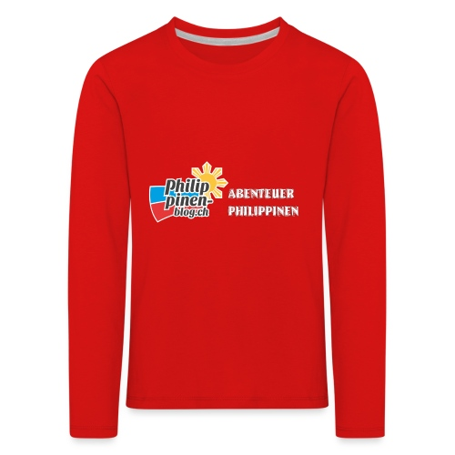 Philippinen-Blog Logo deutsch schwarz/weiss - Kinder Premium Langarmshirt