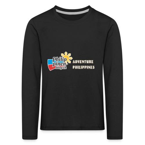 Philippinen-Blog Logo english orange/weiss - Kinder Premium Langarmshirt
