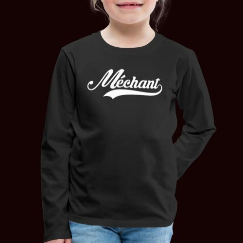 mechant_logo_white - T-shirt manches longues Premium Enfant