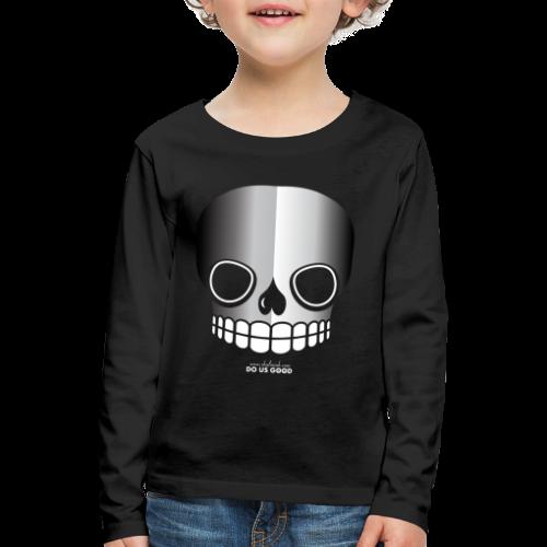 JUST SKULL bw - Lasten premium pitkähihainen t-paita