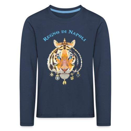 regno di napoli tigre - Maglietta Premium a manica lunga per bambini