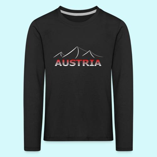 Austria - Österreich Berge T-Shirt - Kinder Premium Langarmshirt