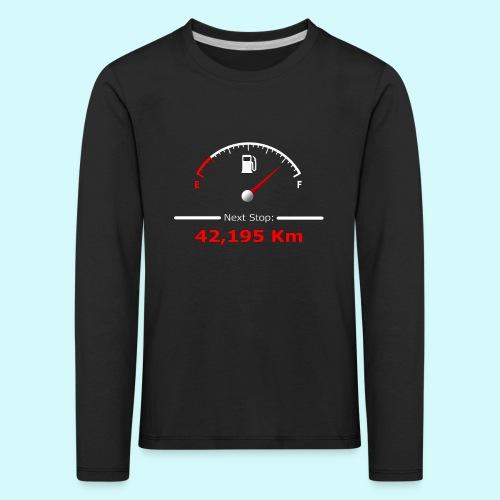 Laufen / Run 42 km - Next Stop - Laufmotivation - Kinder Premium Langarmshirt
