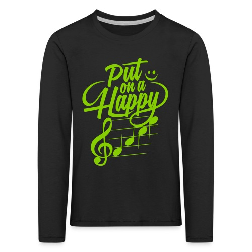 happy face colorize - Kinder Premium Langarmshirt