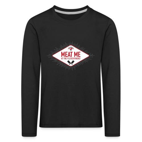 Meatme Logo - Kinder Premium Langarmshirt