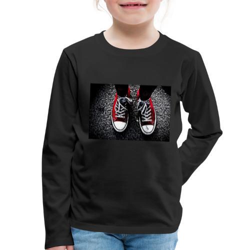 Sneakers - Långärmad premium-T-shirt barn