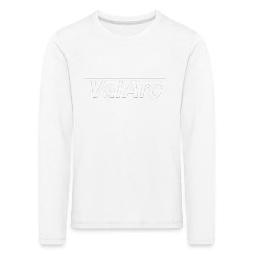ValArc Text Merch White Background - T-shirt manches longues Premium Enfant