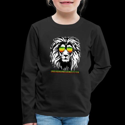 RASTA REGGAE LION - Kinder Premium Langarmshirt
