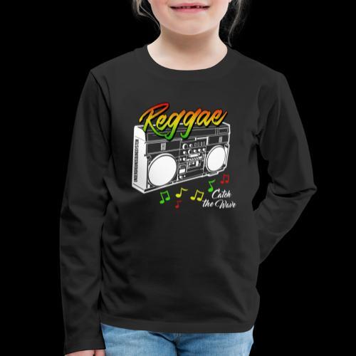 Reggae - Catch the Wave - Kinder Premium Langarmshirt