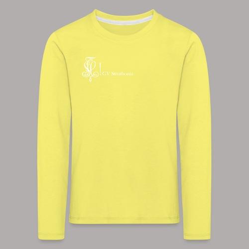 Zirkel mit Name, weiss (vorne) - Kinder Premium Langarmshirt