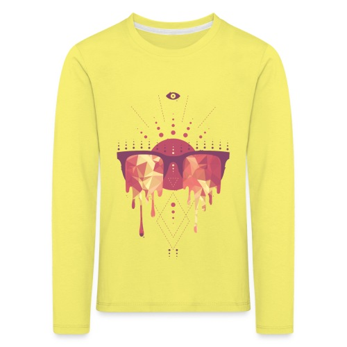 summer png - Børne premium T-shirt med lange ærmer