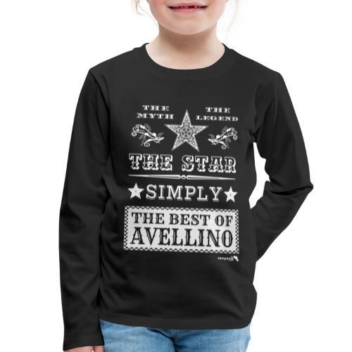 1,03 The Star Legend Avellino Bianco - Maglietta Premium a manica lunga per bambini