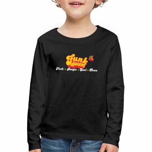 FunkDown Official Merchandise (med genrer) - Børne premium T-shirt med lange ærmer